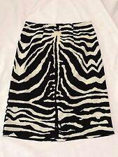 Peter Morrissey Skirt with Zebra Print Size 8