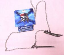 Disney's Pirates of the Caribbean Necklace Sword with Sheath BNWT Hot Topic RARE