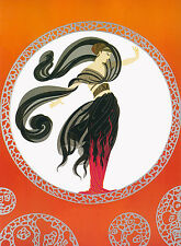 "Erte (Romain de Tirtoff)  ""Flames of Love""  Hand Signed & Numbered"