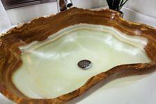 Modern Natural Stone Bathroom Vessel Sink - Rustic BEAUTIFUL Onyx Stone