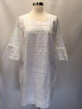 NEW J.Crew Eyelet Flutter Sleeve Cotton Shift Dress, G1269, Size 14 White, $118