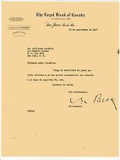 Vintage Commercial Letter / The Royal Bank Of Canada / Sj Puerto Rico / 1947
