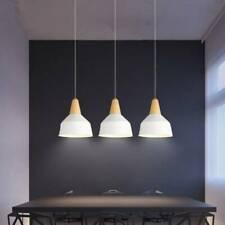 3X White pendant Lights Wood Ceiling Lamp Modern Light Home Chandelier Lighting