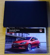 VAUXHALL ASTRA K OWNERS MANUAL HANDBOOK WALLET 2015-2018 LATEST PACK 14105