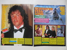 Sylvester Stallone Cornelia Guest Jellybean Proclaimers clippings Sweden 1980s
