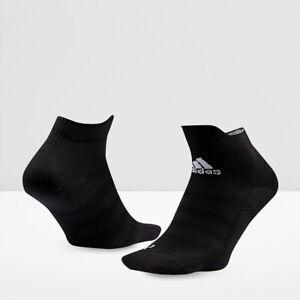 adidas AlphaSkin Ultralight Ankle Socks Size 2-3.5 Black RRP £12 CF6090 PARLEY