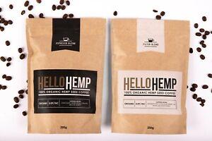 2 X Hello Hemp - Hemp Coffee Espresso Blend- Ships free AU