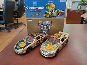 Lot of 2 1998 Dale Earnhardt #3 Bass Pro Shops/ Gold 1:32 Diecast Action MIB