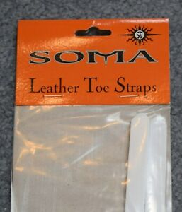 Soma Leather Toe Straps White
