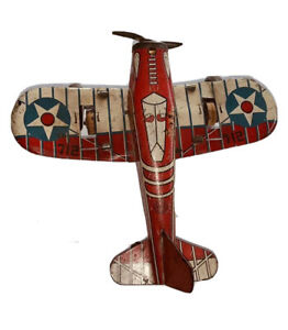 Vintage Marx tin litho US ARMY Airplane toy Original 1940s  Rare