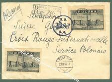 POLONIA, POLAND. Registered cover to Ginevra, 1946.