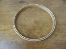 """Vintage Wooden Round Unbranded-6""""Embroidery/Cross Stitch Hoop-felt lined"""