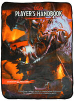 Dungeons And Dragons D&D Player's Handbook Fifth Edition Plush Throw Blanket