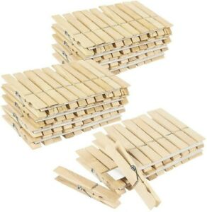 Beeples 100 Large Wooden Clothespins 3 Inches Great quality