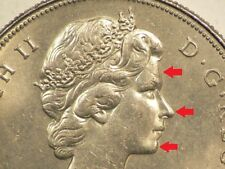 1969 Canada $1 Dollar Doubling on Obverse  Variety #1677