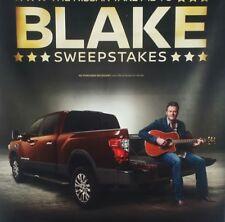 """Blake Shelton Nissan Dealer Sweepstakes Advertising Vinyl Banner Flag 60""""x34"""""""