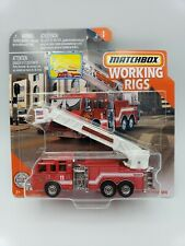 MATCHBOX 2020 WORKING RIGS PIERCE VELOCITY AERIAL FLATFORM FIRE TRUCK