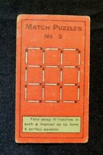 Rare Orig.1907 Sniders and Abraham Cigarette Tobacco Card Match Puzzles # 3