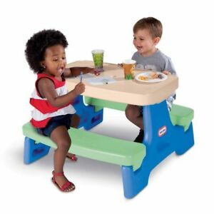 Little Tikes Easy Store Jr. Play Table,Blue & Green ~ Brand New In Box