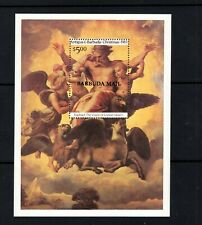 Barbuda 1983 Raphael Christmas Vision of Ezekiel Minisheet Angels Sc 617 MNH