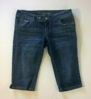 AMERICAN EAGLE ARTIST Low Rise Crop Jeans Size 6 Regular womens blue denim short