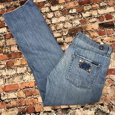 7 For All Mankind High Waist Bootcut Women Size 32 Blue Denim Stretch Jeans #5B