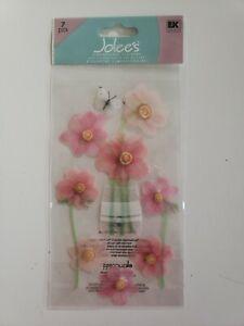 Jolees Boutique Pink Flowers scrapbooking stickers