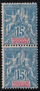 CHINA INDOCHINA FRANCE COLONIES Indochinese Post Madagascar  15C 1MH/1MNH-BOTTOM