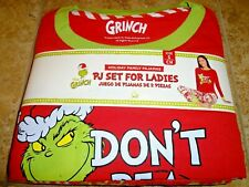 NWT Dr Seuss Grinch Women's Christmas Pajamas Pants S M L XL 2XL 3XL 4 8 12 22W