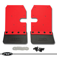 2014-2018 Polaris RZR 900 S 4 1000 XP OEM Front Mud Flap Kit Pair by PDP - RED -