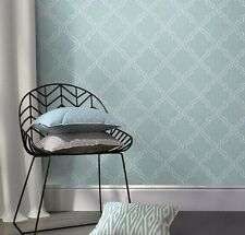 Wallpops Peel and Stick Modern Slate Blue Chic Geometric Quatrefoil NU Wallpaper