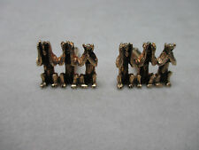VINTAGE HEAR SEE SAY NO EVIL CUFF LINKS VERY NICE