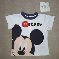 DISNEY t-shirt bébé MICKEY blanc manches courtes taille 3 mois neuf