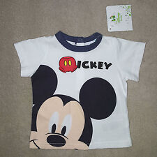 DISNEY t-shirt bébé MICKEY blanc manches courtes taille 3 mois neuf