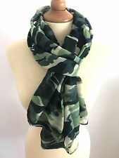FOULARD ECHARPE CHECHE CAMO CAMOUFLAGE ARMEE MILITAIRE VERT