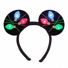 NEW Disney Store World Mickey Mouse Ears Light Up Headband -  For The Holidays!