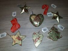 8 Christmas Decorations Hand Decorated