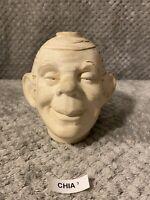 Vintage Smiling Jim Chia Pet Head 1930-1950's.
