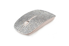 Wireless Rhinestone Mouse for Computer Laptop PC - USB - Silver