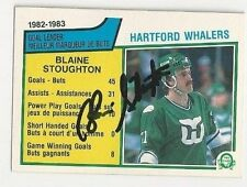 1983/84 O-Pee-Chee Blaine Stoughton Hartford Whalers Autographed LDRS Card