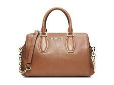 NWT Michael Kors Handbag Vanessa Medium Leather Chain Satchel Purse $358 Luggage