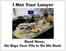 "Jail Prison Inmate Postcard ""The Lawyer's Desk"""