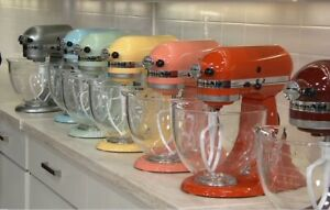 KitchenAid 5-qt Artisan 325W Tilt-Head Stand Mixer w/ Glass Bowl KSM154GBQ4 New