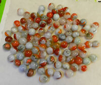 #10941m Vintage Bulk Group or Lot of 100 Mostly Vitro Agate Marbles .56 to .63