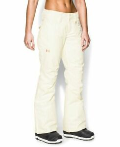 NEW Under Armour Women's STORM Queen Quean Ski Snowboard Pants Ivory SMALL 160$