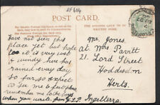 Genealogy Postcard - Jones / Pavitt - 21 Lord Street, Hoddesdon, Herts  RF604