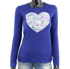 United Colors Of Benetton Langarmshirt Mädchen Gr. 160 cm Pullover Violett A2805