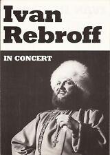 Pressebroschüre : Ivan Rebroff