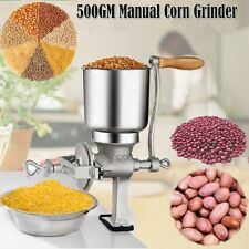 Hand Grinder Operated Corn Grain Wheat Spice Rusher Mill Machine Tool Cast Iron
