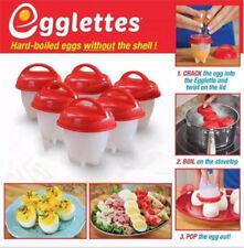 6pcs Egg Boiler Silicon Egglettes Kitchen Tools Grade Hard Boiled Food Cooker